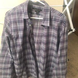 John Varvatos Checkered Shirt